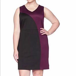 NWT Ellen Tracey Women's Plus Size Scuba Dress